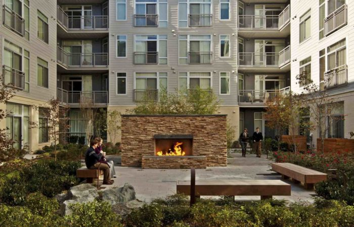 Residential, Outdoor Amenities, Data, Luxury, Urban living, Fireplace, zen garden