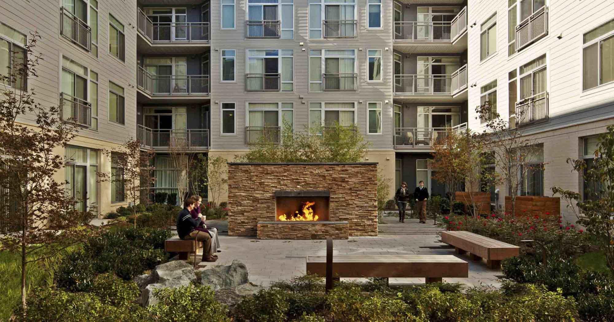 Residential, Outdoor Amenities, Data, Luxury, Urban living, Fireplace, zen garden