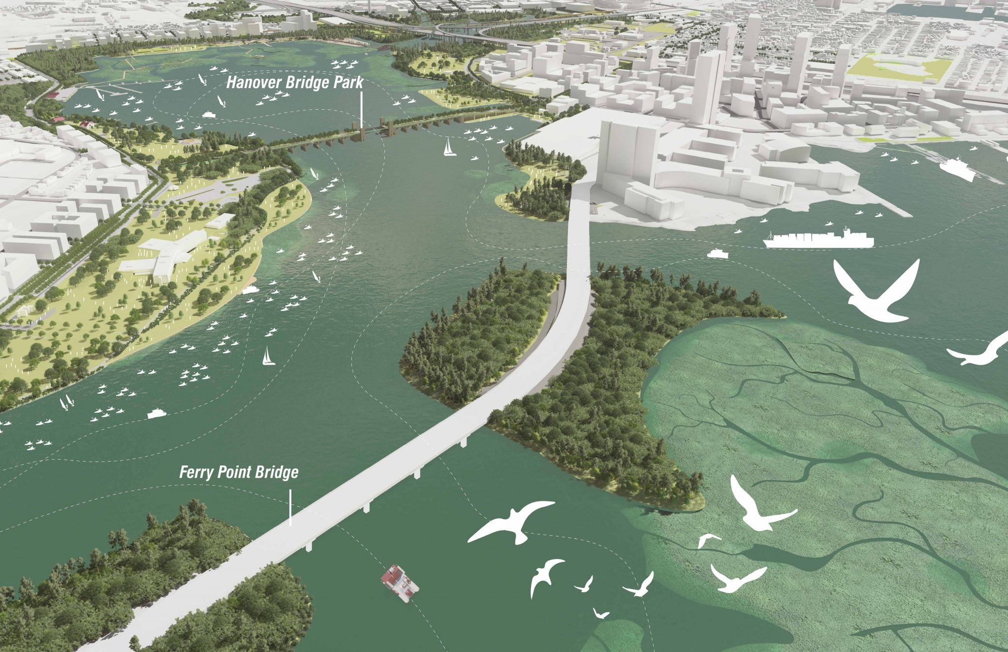 Middle Branch Waterfront Concept