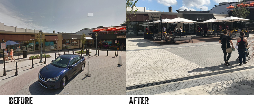 Suburban Square Before and After Streetscape