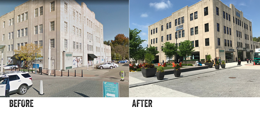 Suburban Square Before and After LIfetime Building